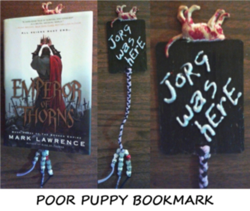 poor puppy bookmark