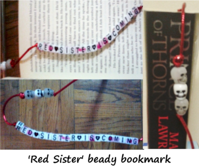 Red Sister beady bookmark
