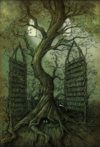 the_neverland_library_tree_by_copperage-d6rndyv